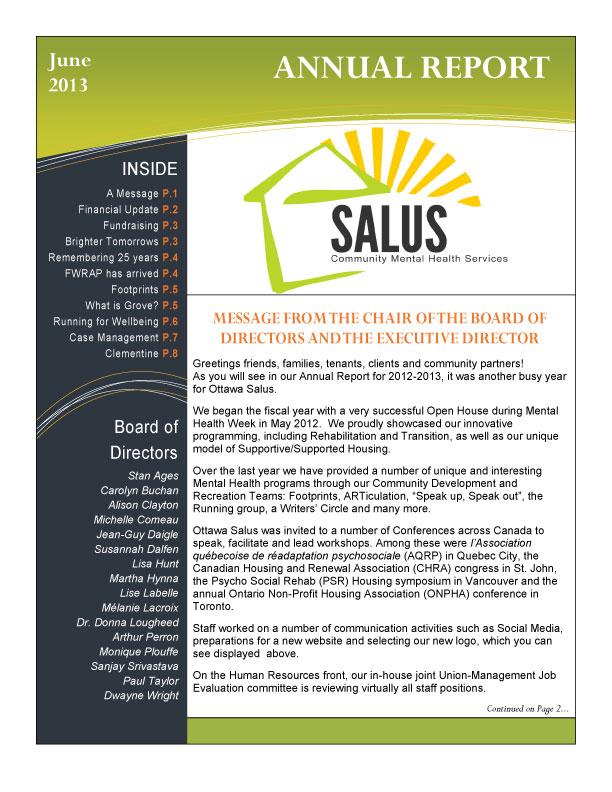 Salus Annual Report 2012-2013